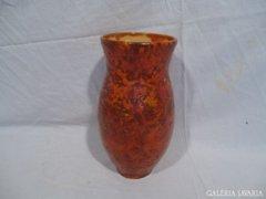 4880 J9 Régi Tófej kerámia váza 24 cm