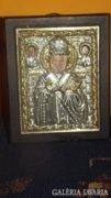 Tradicionális bizánci ikon reprodukció 12x10 cm
