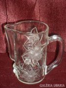 Dombor mintás üveg ki öntő - kancsó  ( DBZ0049 )