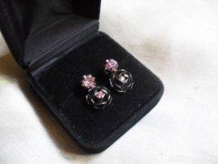 Rózsaszirmos fülbevaló