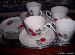 4 személyes teás, kapuccinós csészék