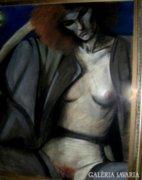 Kortárs festmény Art deco lakásba