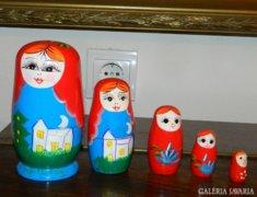 Matrjoska baba 5 részes szett - karácsonyi