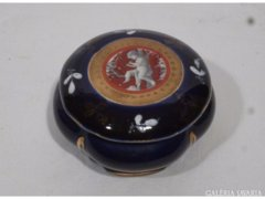 5037 Kobaltkék Altwien angyalos porcelán bonbonier