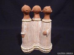 5164 Antalfiné Szente Katalin 3 alakos kerámia