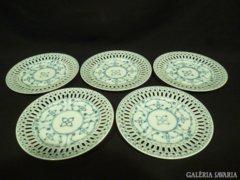 5093 Régi VICTORIA INDIAN BLUE porcelán tányér 5db