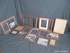 5343 Antik régi képkeret fotókeret egyben 20 db