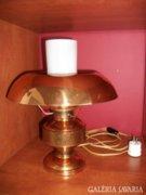 Iparművészeti réz asztali lámpa