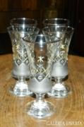 Álomszép ónfestéses különleges pohár készlet