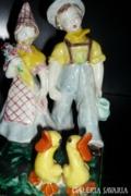 Ráhmer kerámia: Gyerekek kacsákkal