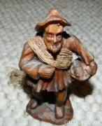 Viasz szobor - kézimunka - öreg ember