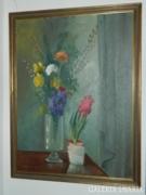 Gádor Emil képcsarnokos óriási virágcsendélet