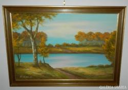 Kvalitásos, jelzett, különleges olaj  festmény
