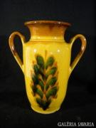 R289 C6 Régi kerámia kétfüles váza