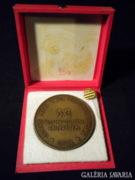 R670 R5 Régi bronz emékérem + kitűző