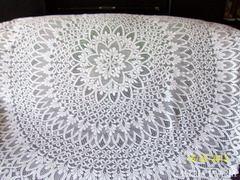 Gyönyörű hófehér 183 cm átméröjű csipketerítő