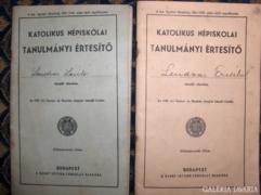 KATOLIKUS NÉPISK. TANULM. ÉRTESÍTŐ - 2 db - 1937