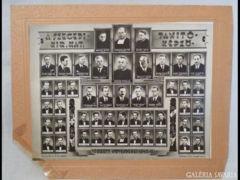 U928 D2 Antik fotográfia katolikus tablókép '40-41