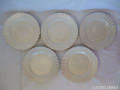 X526 A2 Antik porcelán süteményes készlet 5 szem