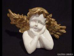 1305 G3 Kitárt szárnyú angyal könyöklő figura