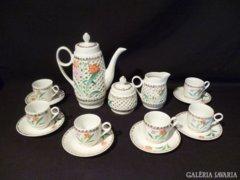 Y312 I2 Porcelán kávéskészlet hibátlan 6 személyes