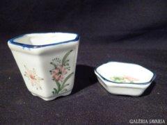 Y317 G2 Antik vastagfalú porcelán fogpiszkálótartó
