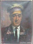 Y646 R1 Antik olaj vászon festmény portré
