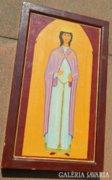 Kézzel festett bizánci ikon festmény : G. Hartinger