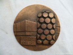 Y899 E3 Debreceni Konzervgyár bronzplakett 1966-70