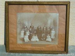 Y982 R1 Antik családi fotográfia