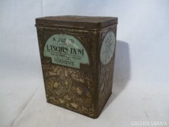 0132 Antik fémdoboz L.TSCHIN-TA-NI teafű tartó