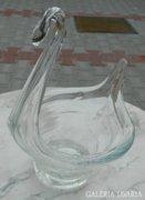Fuvott álomszép antik hattyú asztaközép - antik üvegre