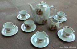 WALBRZYCH lengyel barokk jelenetes kávéskészlet