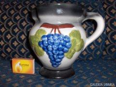 Kerámia boros kancsó domború díszítéssel - 17 cm