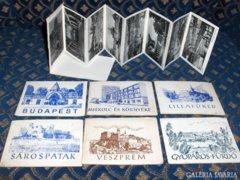 Harmonikára nyitható városképek a 60-as évekből - 7 db