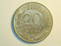 20 Centimes - Franciaország - 1974.