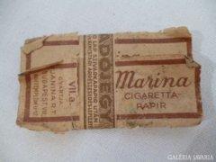 Y474 C2 Régi háború előtti cigaretta papír Marina