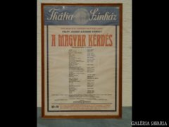 Y991 R1 Régi Thália Színház plakát 1970-ből