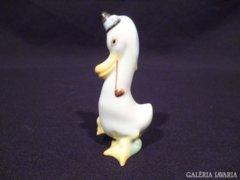 3093 K14 Régi herendi porcelán pipázó kacsa