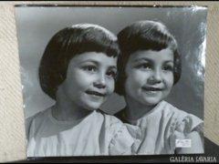 3168 T2 Nagyméretű jelzett régi gyerek fotográfia