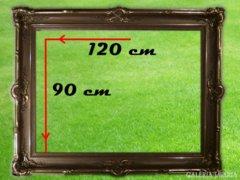 3185 T0 Hatalmas antik festmény képkeret 90 x 120