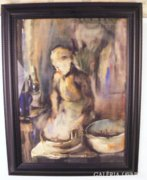 GALLÉ TIBOR 60x40 cm akvarell