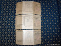 Közmunka igazolvány - 3 db - 1948