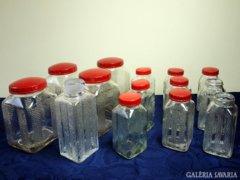 Art Deco fűszeres üvegek (14 db)