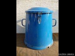 1046 T0 Régi kék zománcozott zsírosbödön 30 liter