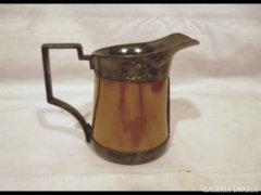 1452 G3 Antik ezüstözött porcelánbetétes tejszínes