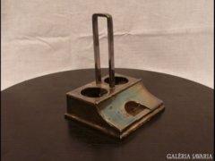 1455 G3 Antik ezüstözött só bors tartó váz