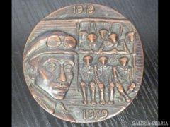 1900 I1 Bronz emlékplakett 1919-1979