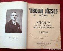 Tiboldi: Népdalok I. kötet dedikált!