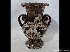 2063 D3 Vásárhelyi kerámia váza Mónus ? 20 cm